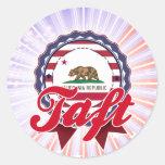 Taft, CA Etiqueta Redonda