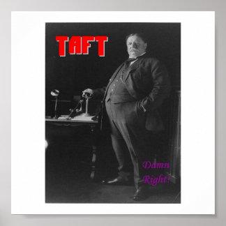 Taft-Damn Right Posters