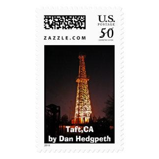 Taft Derrick, Taft,CA by Dan Hedgpeth Postage