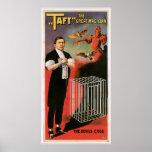 Taft ~ Magician Devils Cage Vintage Magic Act Posters