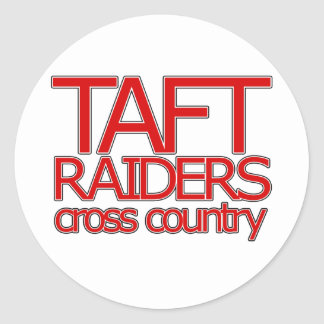 Taft Raiders Cross Countryl - San Antonio Classic Round Sticker