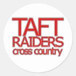 Taft Raiders Cross Countryl - San Antonio Classic Round Sticker