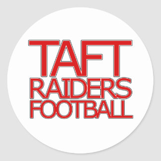 Taft Raiders Football - San Antonio Classic Round Sticker