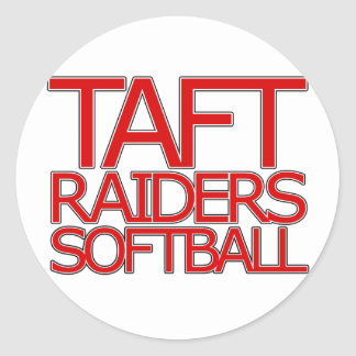 Taft Raiders Softball - San Antonio Classic Round Sticker