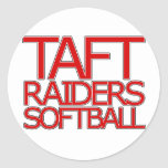 Taft Raiders Softball - San Antonio Classic Round Sticker