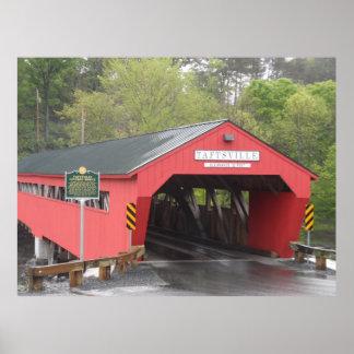 Taftsville Covered Bridge, Vermont Poster