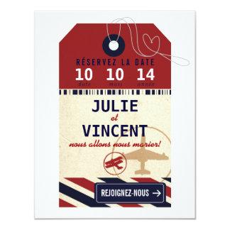 Tag Bagages de Voyage Réserver la Date Card