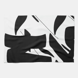 tag calligraphy kitchen towels