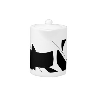 tag calligraphy teapot