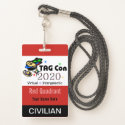 TAG Con 2020 - Red Quadrant - Civilian Badge