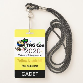 TAG Con 2020 - Yellow Quadrant - Cadet Badge