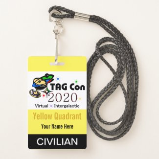 TAG Con 2020 - Yellow Quadrant - Civilian Badge