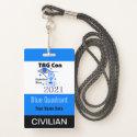 TAG Con 2021 - Blue Quadrant - Civilian Badge