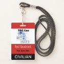 TAG Con 2021 - Red Quadrant - Civilian Badge