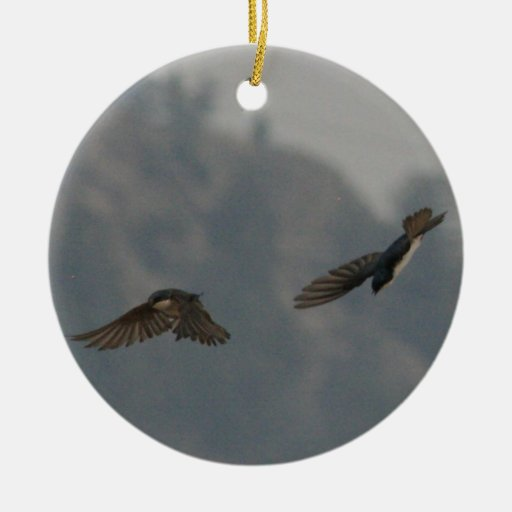 Tag Double-Sided Ceramic Round Christmas Ornament