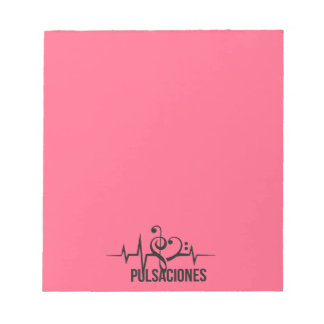Tag Pink Pulsations Notepad