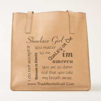 TAG Popular Quotes Leather Tote
