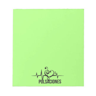 Tag Pulsations Green Notepad
