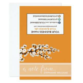 TAG Stylist Cherry Blossoms Notecards (orange)