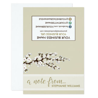 TAG Stylist Cherry Blossoms Notecards (pearl)