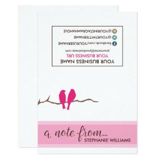 TAG Stylist Little Birdies Notecards (fuchsia)