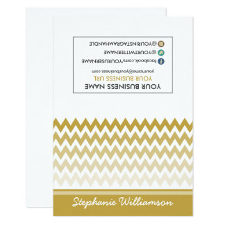 TAG Stylist Ombre Chevron Notecards (gold)