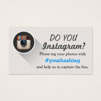 Tags business cards templates zazzle tag your instagram photos hashtag business cards colourmoves