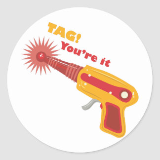 Tag! You're It Classic Round Sticker
