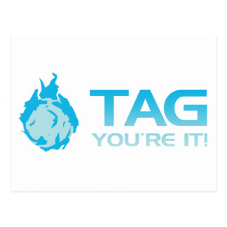 TAG You're it! - Sticky Grenade Halo game gamer Postcard