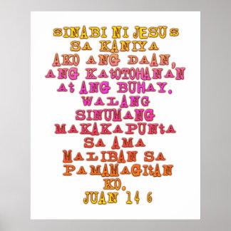 Tagalogo del 14 6 de Juan Poster