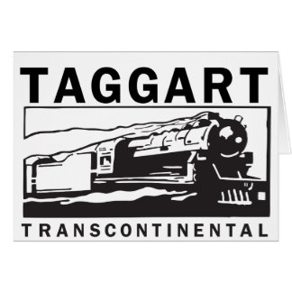 Taggart Transcontinental Greeting Card