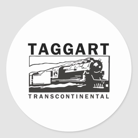 Taggart Transcontinental Classic Round Sticker
