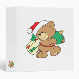tagged for christmas teddy bear binder