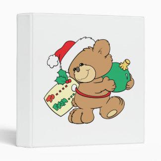 tagged for christmas teddy bear binder