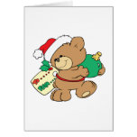 tagged for christmas teddy bear greeting cards