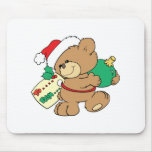 tagged for christmas teddy bear mouse pads