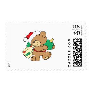 tagged for christmas teddy bear postage