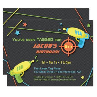Laser Tag Party Invitations Announcements Zazzle