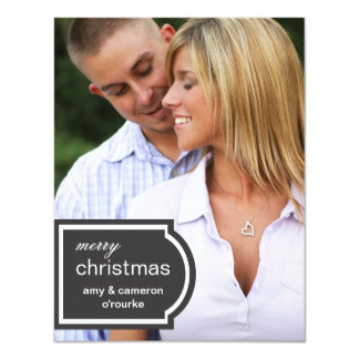Tagged Photo Christmas Card-black Card