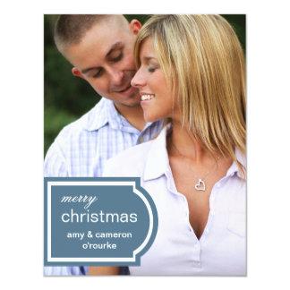 Tagged Photo Christmas Card-blue Card