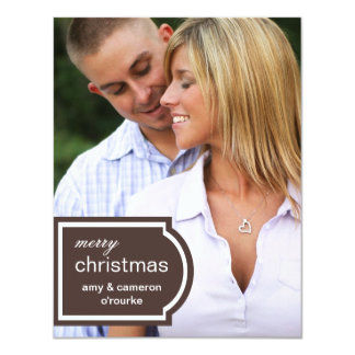 Tagged Photo Christmas Card-chocolate Card