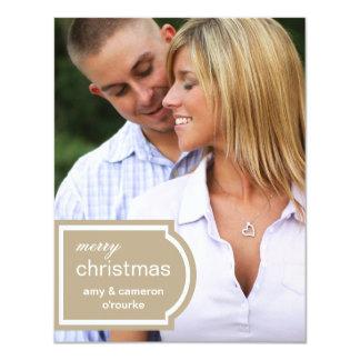 Tagged Photo Christmas Card-khaki Card