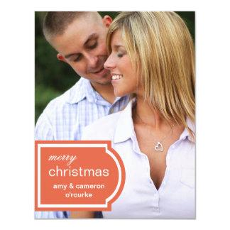 Tagged Photo Christmas Card-orange Card