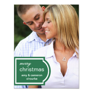 Tagged Photo Christmas Card-pine Card