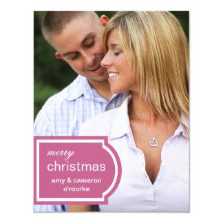 Tagged Photo Christmas Card-raspberry Card