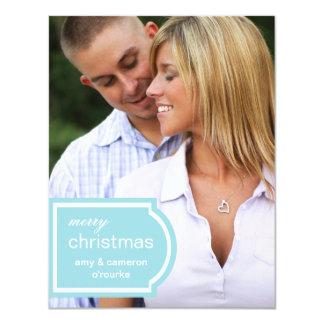 Tagged Photo Christmas Card-sky blue Card
