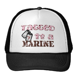 tagged to a marine trucker hat
