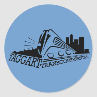 Taggert Transcontinental Classic Round Sticker