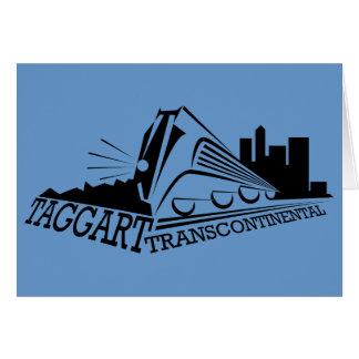 Taggert transcontinental tarjeta de felicitación