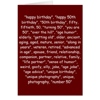 TAGGING YOUR 50TH BIRTHDAY! GREETING CARD